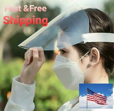 Fast shipping Safety Full Face Shield Clear medical Visor Dustproof Protecto