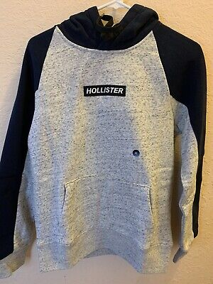 Box Logo Hoodie Heather Grey Hollister Size XS