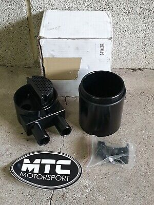 MTC Oil Catch Tank Can Double Baffled Black