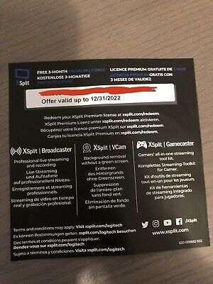 XSplit 3 Months Premium Licence Subscription Code - Worth £20!