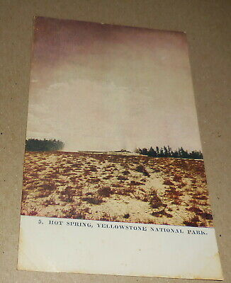 vintage Hot Spring Yellowstone National park postcard