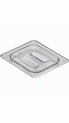 Case of 6 Cambro 60CWCH135 Camwear Clear 1/6 Size Food Pan Cover with Handle