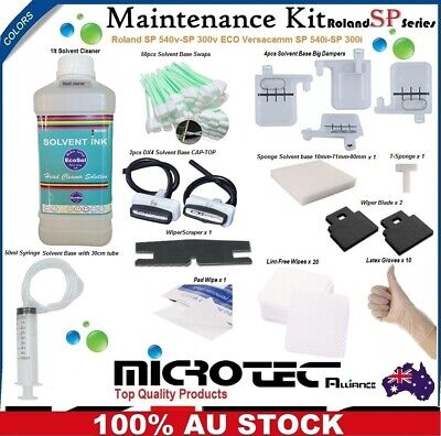 Cleaning Maintenance Kit for Roland SP 300i - SP 540i ECO and Solvent Printers.