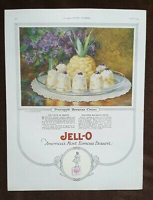 Vintage 1924 Magazine Ad - Jello Dessert - Great Graphic