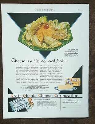 Vintage 1929 Magazine Ad - Philadelphia Cream Cheese - Great Graphic