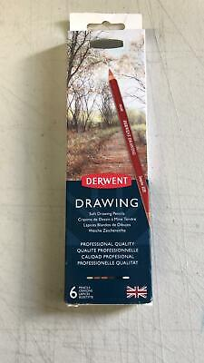 Derwent Coloursoft Skintones Pencils, Set of 6 with Sharpener, Prof. Quality.