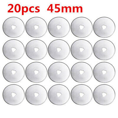 20PCS 45mm Rotary Cutter Refill Blades Quilters Sewing Fabric Cutting Tools AS