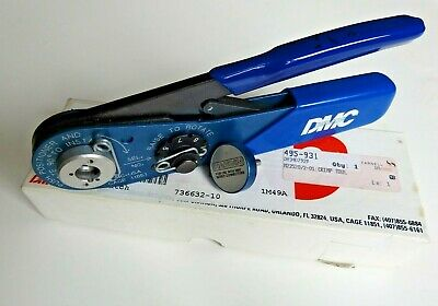 DMC AFM8 Crimp Tool with Positioner and Extras
