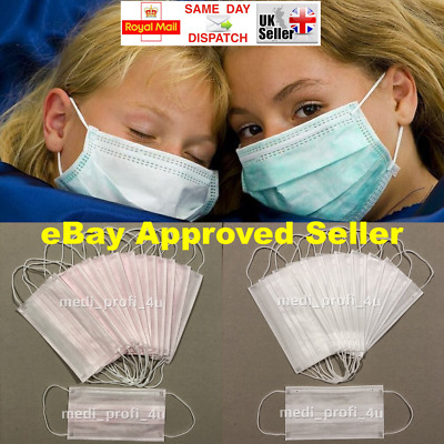 3 Ply 1 10 20 30 40 50 100 Face Mouth Nose Surgical Medical Mask Disposable