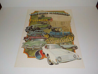 Vintage Studebaker Poster (The Time Machines) Lord Associates 18 X 24 Inch RARE