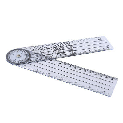 Rotatable 360 Degree Protractor Multi Angle Ruler Goniometer Spinal Ruler SK