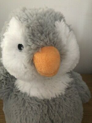 Cute Fluffy Soft Adorable Grey Penguin Lavender Filled Microwaveable Plush