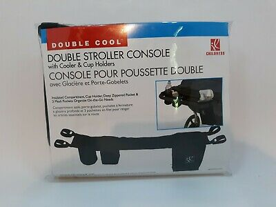 NEW JL Childress Double Stroller Console Organizer With Cooler and Cup Holder