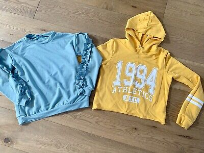 2 Girls Tops , Hoody, Jumper Age 11-12 Outfit