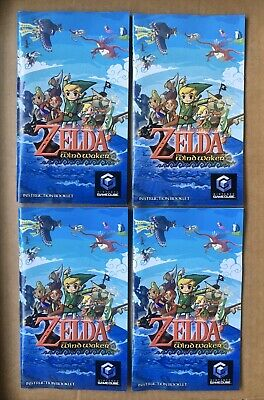Zelda: Wind Waker -Nintendo Gamecube Instruction Booklet Manual ONLY (VERY GOOD)