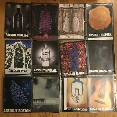 115+ Lot Of ABSOLUT VODKA Ads Magazine Print Collection RARE mostly 1990s