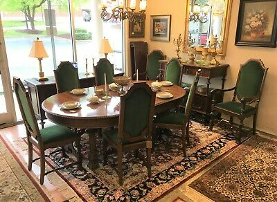 Early 1900's 10 Piece Edwardian Dining Set at Raleigh Furniture Gallery