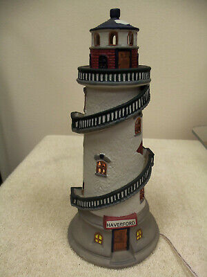 """1995 Lemax Dickensvale """"Haverford"""" Lighthouse - Light Works"""