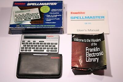 Retro Franklin SpellMaster Words Form Collins Dictionaries QE-95 1993 Working !