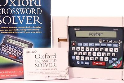 Seiko ER3700 Electronic Oxford Crossword Solver Dictionary