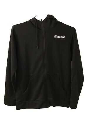 NWOT Amazon Web Services AWS re:Invent Zip-up Hoodie Sweatshirt Swag Small/Petit