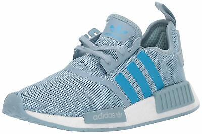Kids Adidas Girls NMD_r1 Fabric Low Top Lace Up Running Sneaker, Blue, Size 7.0
