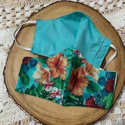 Hand Made Mask With Pocket for Filter Floral Print Summer Fashion Accessories