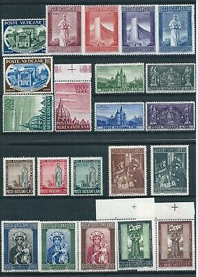 Vatican City 1955-58 Selection of Mint Never Hinged