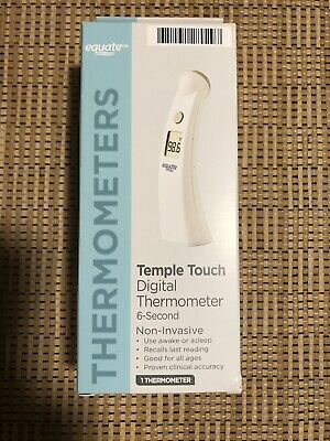 BRAND NEW Equate Temple Touch 6-Second Digital Thermometer free fast shipping.