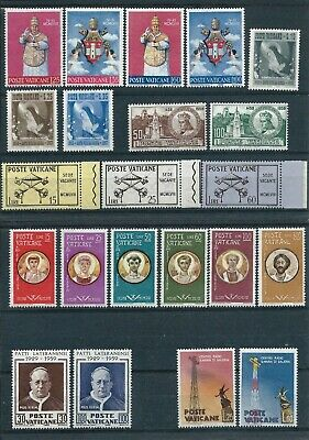 Vatican City 1956-59 Selection of Mint Never Hinged