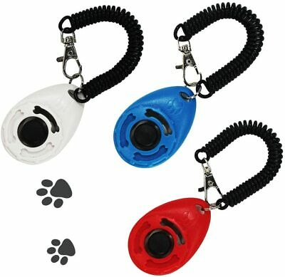 Pet Dog/Puppy Cat Clicker Pet Training Clicker Trainer Teaching Exercise Tool