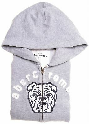 ABERCROMBIE & FITCH Girls Hoodie Sweater 11-12 Years Large Grey Cotton  EZ08