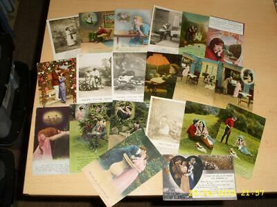 Ww1 Era - Bamforth Song Cards - Collection Of Vintage Postcards