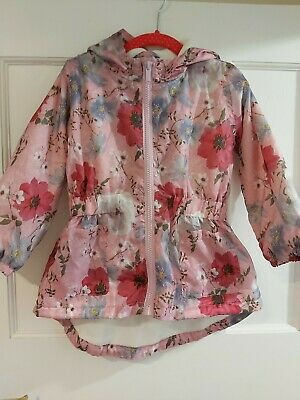Girls Spring Summer Lightweight Coat Jacket With Fleece Lining Age 2-3 excellent