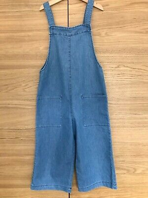 Next girls chambray cropped dungarees, age 9 years