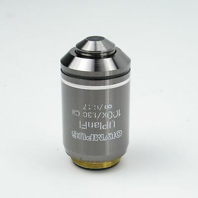 Olympus Uplanfl 100X/1.30 Oil Microscope Objective Lens For Bx Series