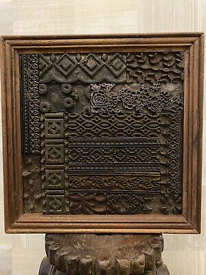 Reclaimed Antique Indian 19th century Wooden Block Frame
