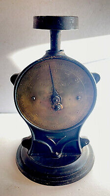 Vintage Cast Iron And Brass Salter Family Scale No.50 14lb