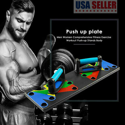 9 in 1 Push Up Rack Board, Workout Push-up Stands for Body Exercise System
