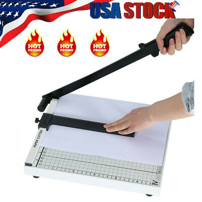 """Paper Cutter 12"""" A4 to B7 Metal Base Guillotine Page Trimmer Blade Scrap Booking"""