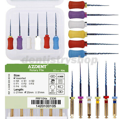 Dental Endodontic NiTi Engine/Hand Use Heat Activated Rotary File SX-F3 25mm