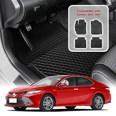 Floor Mats Liners for Toyota Camry 2012-2017 Custom All Weather Rubber Black