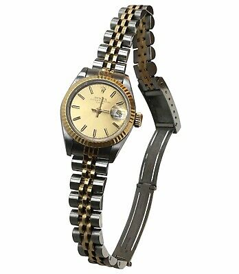Montre ROLEX modele Pour Dame OYSTER PERPETUAL FATE JUST 26mm VINTAGE