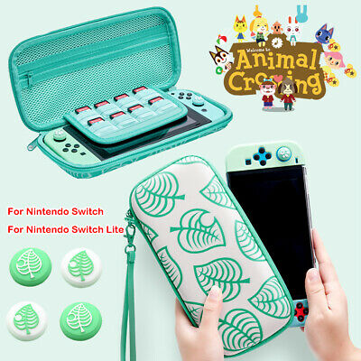 Animal Crossing Carrying Case Bag Storage With Caps For Nintendo Switch /Lite