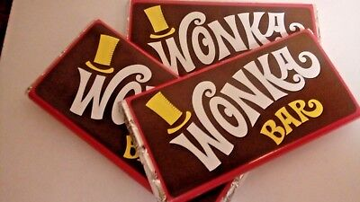 Willy Wonka Chocolate Bar plus Willy Wonka Golden Ticket For All Occasions :)
