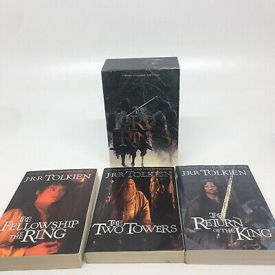 The Lord of the Rings by J. R. R. Tolkien Three Volume Edition 3 Books