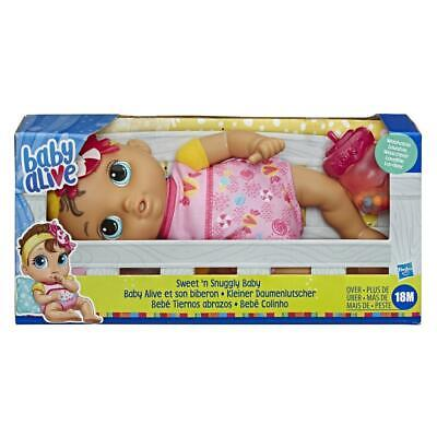 Baby Alive Sweet 'n Snuggly Soft-Bodied, Washable, First Baby Doll with Bottle