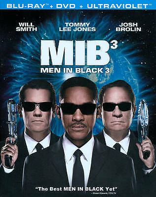 Men in Black 3 (Blu-ray/DVD, 2012, 2-Disc Set) BRAND NEW REGION FREE. WILL SMITH