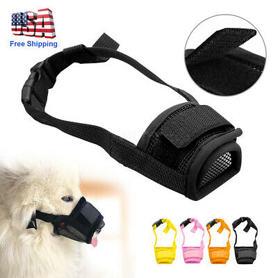 Pet Puppy Dog Muzzle Anti Stop Bite Barking Chewing Mesh Training Adjustable USA