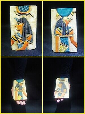 EGYPTIAN ANTIQUE ANTIQUITIES Two Different Sides Drawings Stela 1549-1303 BC